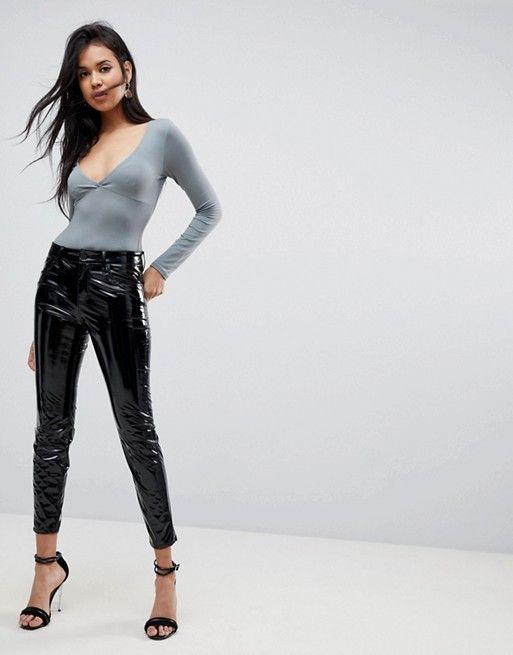 Pantaloni in vinile neri